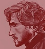 drawn profile of Will Graham in red