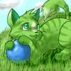 green cat drawing