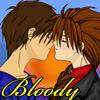 Bloody Heero/Duo kiss