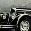Front end of car from the 1930's - detail from black and white poster