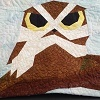 Photo of owl from wall quilt