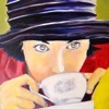 Portrait of a girl sipping coffee by Florence