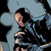 image of Jason Todd as the Red Hood in his helmet