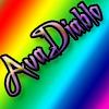 Rainbow colours with AvaDiablo in purple Almost diagonal across