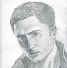 a drawing I made of Dean Winchester