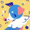 a stylized potrait of the pokemon Popplio