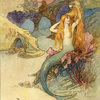 a noble land mermaid by Warwick Goble