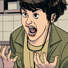 Kate Bishop caught in a silent scream of dismay, wondering what her life has become