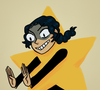 awful young adult in a star suit