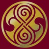 Seal of Rassilon, gold on red