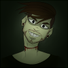 Icon - An image of Antisepticeye staring at the user through the screen with black eyes and blood dripping from the cut in his neck.