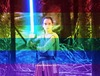 Rey from Star Wars with Rainbow Filter