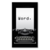 "antique black typewriter with typed text on white paper: ""Word."""