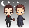 Chibi Jack and Ianto