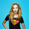 Cat Grant in a Supergirl tee