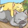 Kitty!Naruto snoozing on Kitty!Kakashi. SO CUTE*_*
