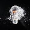 lightbulb in mid-smash