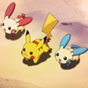 Plusle, Minun and Pikachu running