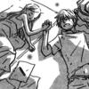 Hagu and Takemoto sleep joining hands