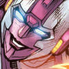 A joyfully smiling Arcee who fights with the best
