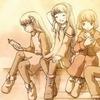 AisukuriMuStudio logo - Three girls with three different personalities.