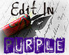 "Calligraphy pen over some handwriting; Overlaid text says ""Edit in PURPLE"""
