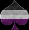 Ace Flag in Spade shape