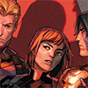 cover of tales of suspense in which marvel comics tries to murder me by sandwiching natasha in between clint and bucky as they look smoulderingly at each other
