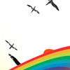 rainbow and birds