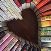 books in shape of heart