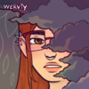 White skin very pale, short bob hair cut pink with green longer sections around face with white flower in hair and Victorian dress anime girl bust up