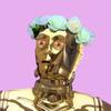 C-3PO wearing a flower crown