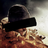 Soldier wearing a beanie, holding a sniper rifle, a black censor bar over his eyes, obscuring his features