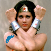 Wonder Woman wears a face mask like the hero she is. You should too!