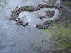 Stone heart in water