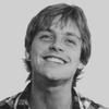 Mark Hamill, smiling and looking up, it warms my heart seeing someone being that happy!