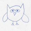 cartoony drawing of an owl