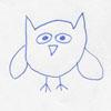 cartoony drawing of an owl