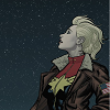 Carol Danvers looking up at a starry sky
