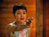 "Josie with a gun, ""Twin Peaks,"" 1991."