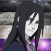 Orochimaru (from Naruto) on a galaxy/starfield made up of the asexual flag colours