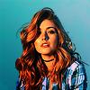 ohprongs ao3 icon: katherine mcnamara on a blue background