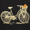Glittery drawing of bicycle with pumpkins in its basket.