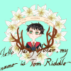 FlowersxHarry OTP with a Deer Skull and Tom Riddle