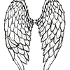 A hand-drawn wingpair