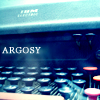 "Typewriter with the name, ""argosy"""