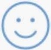 Simple Blue Smiling Face