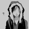 Izaya with a question mark next to his head
