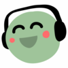 a happy pea listening to a podfic