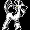 A cartoon zebra